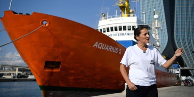 L'Aquarius dans le port de Marseille. Le navire n'avait plus de pavillon depuis maintenant deux mois.