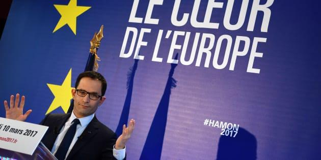 Benoît Hamon (ici le 10 mars à Paris), rencontrera Angela Merkel et Martin Schulz à Berlin mardi 28 mars.