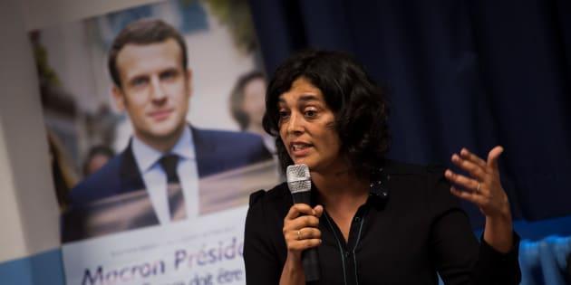 Myriam El Khomri lors d'un meeting de soutiens de LREM à Paris le 1er juin 2017.