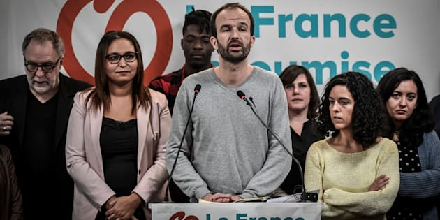 Manuel Bompard, n°2 de la liste de la France insoumise aux européennes, perquisitionné  (Photo prise le 14 janvier 2019).