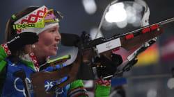 La donna che ha vinto più medaglie d'oro nel biathlon nella storia delle Olimpiadi è un'ex agente del