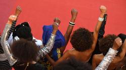 À Cannes, Aïssa Maïga et 15 comédiennes noires rappellent les discriminations dans le cinéma