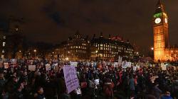 Trump podría enfrentarse a 'manifestación colosal' si visita Reino Unido en