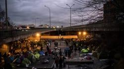 Un camp de migrants évacué porte de la Chapelle à