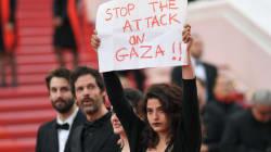 À Cannes, cette actrice libanaise affiche son soutien aux Palestiniens sur le tapis