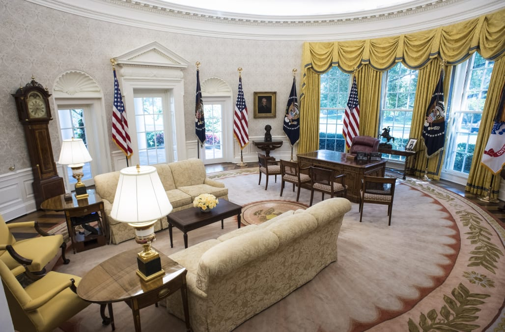 There's a very specific reason why the Oval Office is an ...