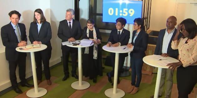 Capture d'écran du débat opposant les candidats au bureau exécutif de LREM.