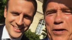 Schwarzenegger ravi de son selfie à l'Élysée avec Macron,