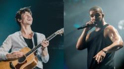 Chaude lutte à prévoir entre Shawn Mendes et Drake au gala iHeartRadio