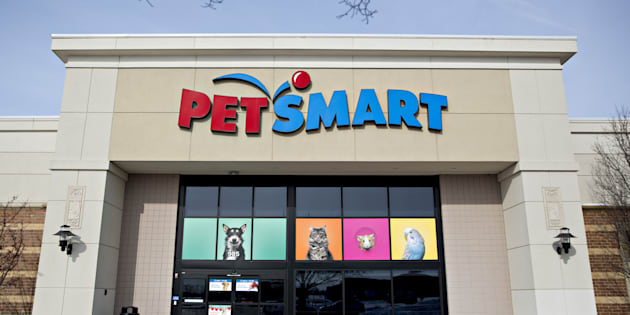 Signage is displayed outside of a PetSmart Inc. store in Yorkville, Illinois, on Feb. 6, 2018.