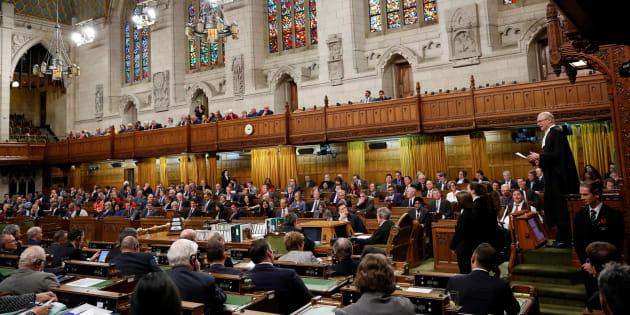 La Chambre des communes du Canada au Parlement d'Ottawa.