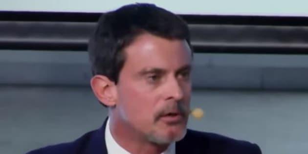 Manuel Valls invité d'un débat à Madrid le 21 novembre 2017.
