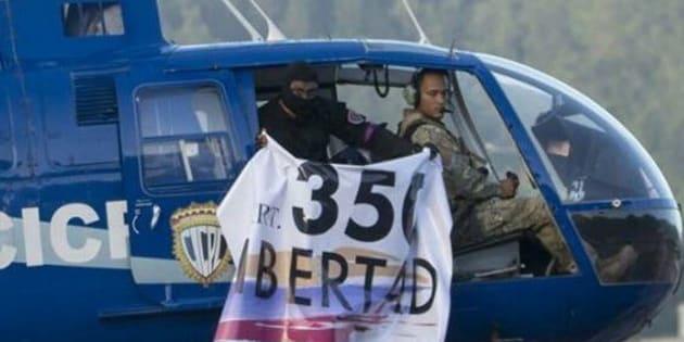 O presidente Nicolás Maduro chamou de 'terrorismo' a ação dos helicópteros em Caracas.