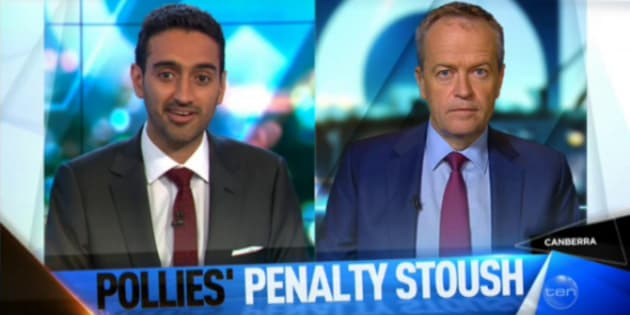 Waleed pressed Bill Shorten on his position on cuts to penalty rates.