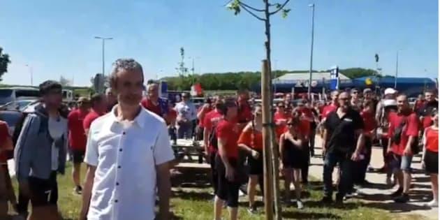 Une pause dej' avant le Stade de France, les supporters des Herbiers ont envahi les aires d'autoroute