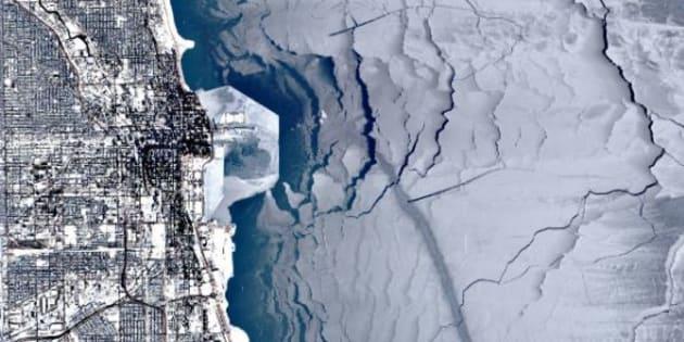 Le lac Michigan à Chicago est entièrement gelé depuis plus de dix jours.
