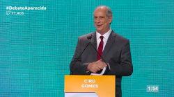 Na TV Aparecida, Ciro paparica Marina, Haddad e até
