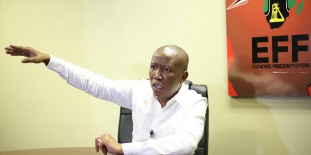 Julius Malema, EFF leader.