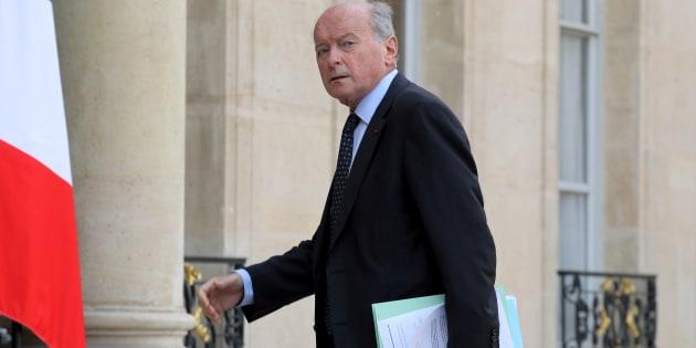 Le défenseur des droits Jacques Toubon arrive à l'Élysée le 17 octobre à Paris.