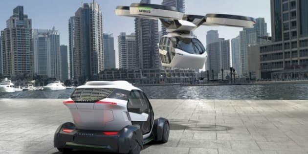 la voiture qui vole qu 39 airbus imagine pour 2027 le huffington post. Black Bedroom Furniture Sets. Home Design Ideas