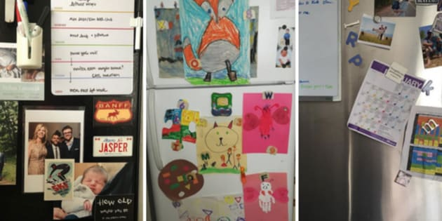 HuffPost Canada asked parents to show us how they tell their family's story on their fridge.