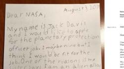 Jack, 9 anni, scrive alla Nasa per il lavoro da