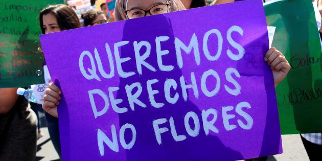 Marcha del Día Internacional de la Mujer en Nicaragua, 2018.