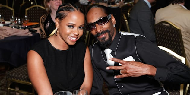 CENTURY CITY, CA - AUGUST 12: (EXCLUSIVE ACCESS)   Shante Broadus and Snoop Dogg attend the 10th Annual Harold Pump Foundation Gala on August 12, 2010 in Century City, California.  (Photo by Tiffany Rose/WireImage)