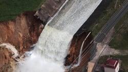 Desalojan pobladores amenazados por falla de represa en Puerto