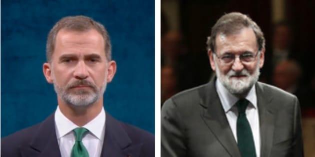 El rey Felipe VI y Mariano Rajoy en los Premios Princesa de Asturias 2017.