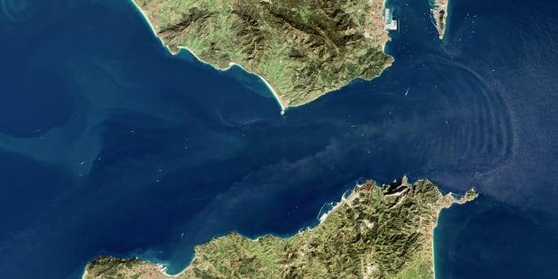 Imagen por satélite del Estrecho de Gibraltar el 17 de enero de  2017.