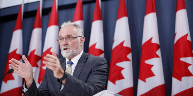 Auditor General Michael Ferguson speaks during a news conference in Ottawa on Nov.  21, 2017.