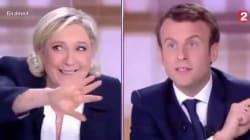 Del dibattito Le Pen-Macron resterà solo questa Gif (e non è