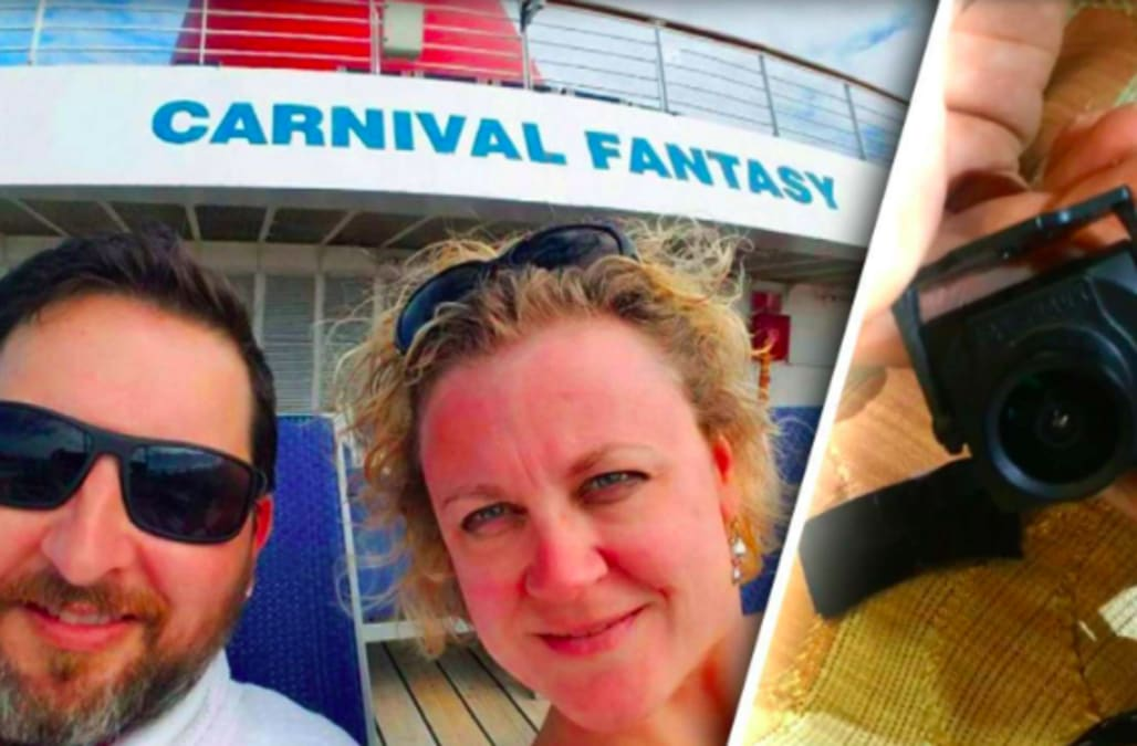 Couple horrified after finding hidden camera in Carnival Cruise ship ...