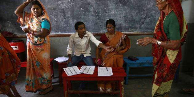Representative image of polling in Rajnandgaon Chhattisgarh.