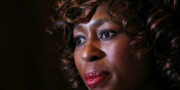 Makhosi Khoza gestures during an interview with Reuters in Johannesburg, South Africa, July 18,2017. REUTERS/Siphiwe Sibeko