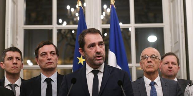 Christophe Castaner à la préfecture de Strasbourg dans la soirée due mardi 11 au mercredi 12 décembre.