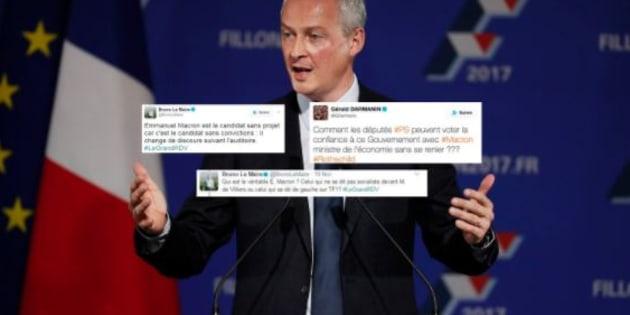 Après l'annonce du gouvernement Philippe, ces tweets que Bruno Le Maire et Gérald Darmanin devraient supprimer