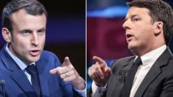 Renzi sta a Macron come i cavoli a