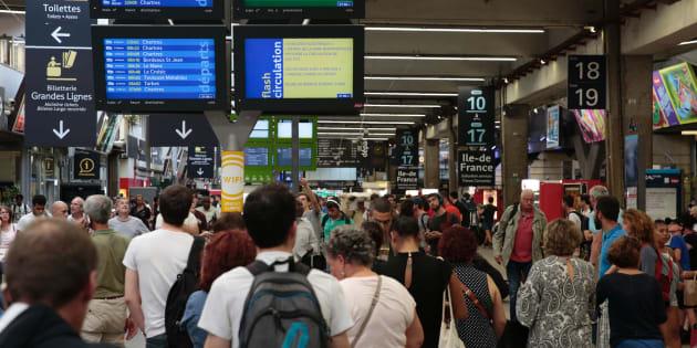 Trafic interrompu à la gare SNCF de Paris-Montparnasse (Image d'illustration)
