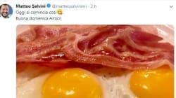Uova e pancetta, dopo la Nutella Salvini rilancia sul