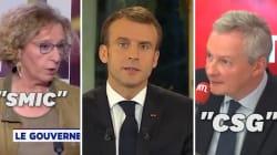 Macron a contredit certains de ses ministres pendant son