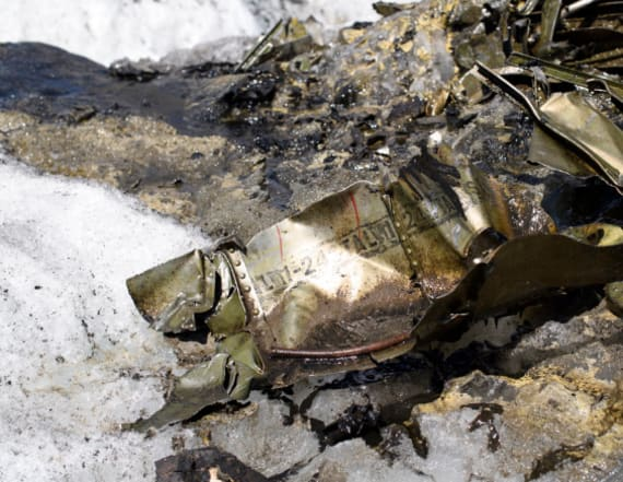 Long-lost US WWII plane found in melting glacier