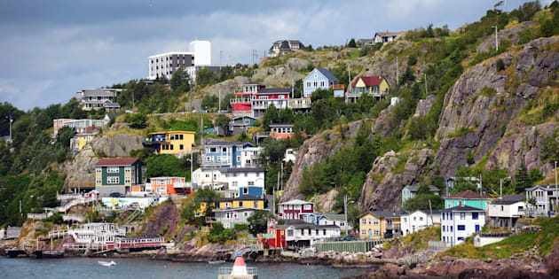 The colourful Battery neighbourhood in St. John's, Nfld. The agency that regulates offshore safety in Newfoundland and Labrador says all offshore oil rigs in the province's waters have been temporarily shut down.