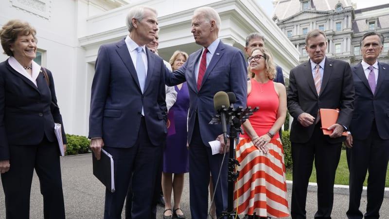Biden's and bipartisan senators' infrastructure deal at a glance