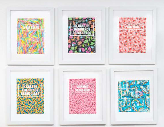 This print is the perfect gift for any candy lover