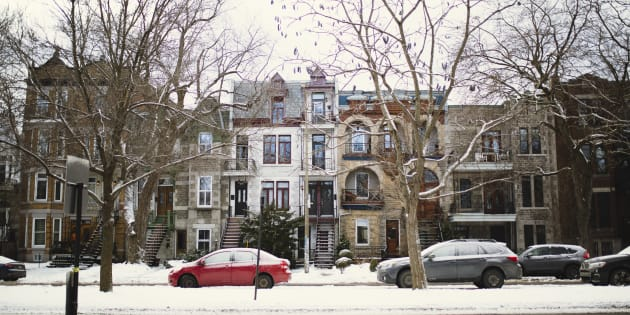 Rowhouses in Montreal's Plateau Mont-Royal neighbourhood. The city is the last one among Canada's major metro areas still experiencing house price growth, according to data from the Teranet-National Bank house price index.