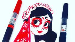 Cette dessinatrice de Disney fait des merveilles avec du rouge et du
