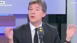 Montebourg oublie de compter la journaliste qui l'interviewe, mais pas les