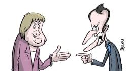 BLOG - Entre Angela Merkel et Emmanuel Macron, le ton est